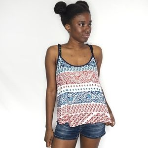 In Bloom Red, White, and Blue Tank Top